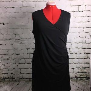 Versatile Jersey Faux Wrap Dress SLIMMING